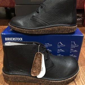Birkenstock Milton black leather men's Chukka new